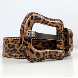 Fendi Rare Leopard Print Waist Belt